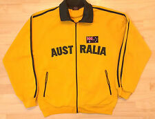 Mr Kangaroo Yellow Australia Sweatshirt Full Zip Jacket Large Flag Green