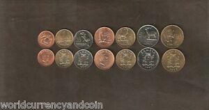 ZAMBIA 1 2 25 50 NGWEE 1 5 10 KWACHA 1983-1992 EAGLE ORYX RHINO UNC 7 COINS SET