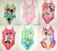 Disney Girls Princess Tinkerbell Fairy Swimwear Swimsuit Swimming Costume 2-8 Y