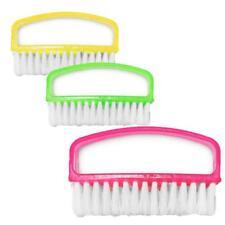 Manicure Nail Brush Scrubbing Brush For Manicure Pedicure Plastic Pack Of 3