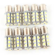 Replaceable White LED 12V 1156 BA15S 18SMD Car RV Trailer Light Bulb 10 Pcs Set