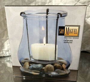 San Miguel Original Design Pomeroy Caspian Hurricane 291012 Candle Holder NEW