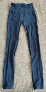 "Lululemon All The Right Places 28"" Leggings - Brilliant Blue - Size 6 UK (2 US)"