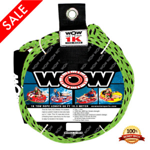1K 60 Ft Tube Tow Rope Water Boat Towable Tubing Floating Foam Ski 1500 Pound