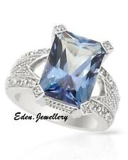 $480 FPJ Stunning Ring Princess Round Cut Purple TOPAZ Sterling Silver 70% OFF