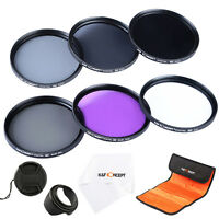 6pcs 49mm UV CPL FLD ND2 ND4 ND8 Lens Accessory Filter Kit Lens Cap for Canon