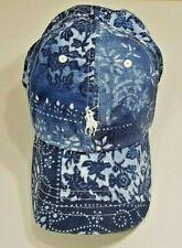 Ralph Lauren Bandanna Print Baseball Hat Moroccan Tile Blue NWT