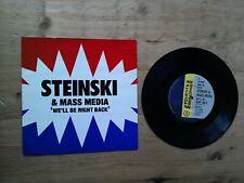"Steinski & Mass Media We'll Be Right Back 7"" Single EX Vinyl Record BRW 59 P/S"