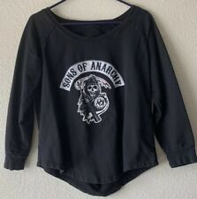 Sons Of Anarchy Women's XL Long Sleeve Slit Back Sweatshirt Made In The U.S.A.
