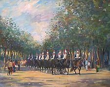 "Original Painting of British Household Cavalry by American Nino Pippa 24 X 30"""