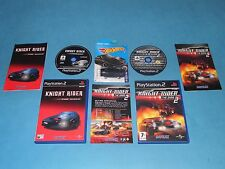 KNIGHT RIDER The Game 1 & 2 + KITT car   game Bundle for PS2 - European PAL *VGC