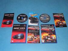 KNIGHT RIDER The Game 1 & 2 + KITT car   game Bundle for PS2 - European PAL *VGC