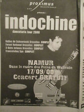 INDOCHINE : GRAND JEU DANCETARIA TOUR 2000 + MERCATOR - 29/08/2000 -