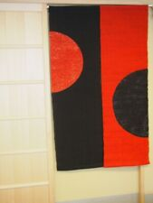Kyoto Half Round Noren Door curtain Roketsu Dye Red Black 88x150 Japan