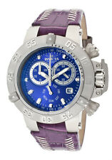 INVICTA SUBAQUA CHRONOGRAPH DAY & DATE PURPLE LEATHER WOMEN'S WATCH 11625 NEW