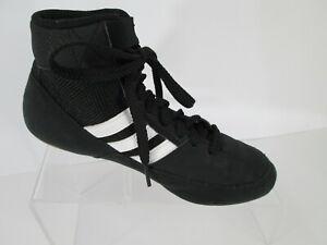 Adidas HVC 2 Youth Jr Wrestling Shoes Boys Sz 4 Black White AQ3327 Kids