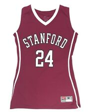 New Nike Stanford University Basketball Jersey Women's Medium Maroon White #24