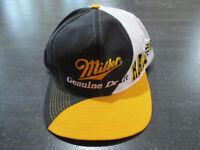 VINTAGE Miller Racing Snap Back Hat Cap Black Yellow Nascar Racecar Mens 90s