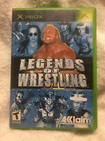 Legends of Wrestling (Microsoft Xbox, 2002) COMPLETE!