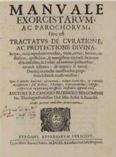 Manuale Exorcistarum 1651 Bergamo  Annotato Esorcismo Streghe Esorcis Brognoli