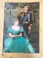 ⭐️ Vintage Royal Wedding Offical Souvenir Charles And Diana Royal Family ⭐️