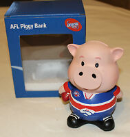 Western Bulldogs AFL Team Small Piggy Bank Money Box 13cm Resin Hand Painted New