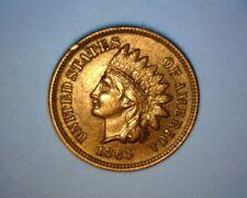 1865 INDIAN CENT, MAJOR DIE BREAK,  OBVERSE CUD, >DOUBLED OBVERSE< US ERROR COIN