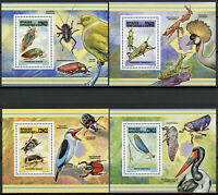Congo 2013 MNH Insects Damselflies Beetles Grasshoppers 8x 1v Deluxe S/S Stamps