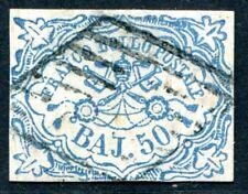 Italia STATO chiese 10i 1852 PUNZONATO perfette firmato Köhler € 1700 (s3312