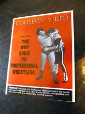 WWF Coliseum Wrestling 1986 Guide To Professional Promotional WWE Video Store