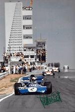 Jackie Stewart SIGNED 12x8 F1 Tyrrell 003 , German GP  Nurburgring 1971