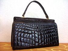 Krokotasche,dunkelbraun, IRV, Krokodilleder Hand Tasche, Crocodile Leather Bag