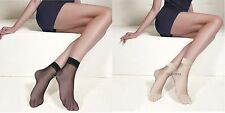 5 Pairs Ladies Ankle High Tights Pop Thin Lycra Socks Comfort Top Size 4-7 1 Pair Random Color