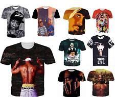 Tupac 2Pac 3D T-shirt The Rapper Print Tee Fashion Men Women Style Size S - 5XL