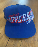 Los Angeles Clippers Vintage 90's Sports Specialties Grid Snapback EUC Rare NBA