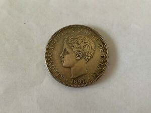 SPANISH PHILIPPINES ONE PESO 1897