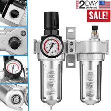 12 Air Pressure Compressor Filter Oil Water Separator Regulator Trap Gauge Kit