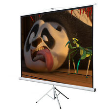 "Office Home 100"" Tripod Portable Projection Screen Square Projector Stand 70x70"
