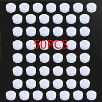 50 Pieces Small Empty White Plastic Cosmetic Sample Container 10 Grams Jars Pot