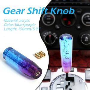 Car Gear Shift Knob Crystal Bubble Manual Gear Stick Lever Head Blue+Purple