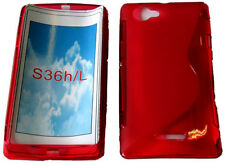 Pattern Gel Case Cover For Sony Ericsson Xperia L S36h C2105 C2104 C210X Red UK