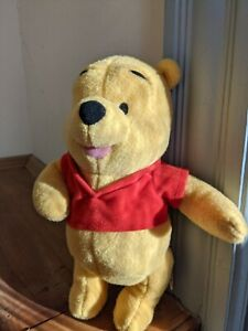 Disney Fisher Price Winnie the Pooh Plush Rattle Red Shirt Baby Toy stuffed