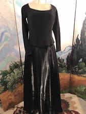 Scott McClintock 12 Formal Black Satin Sparkle Long Sleeve Full- Length Dress