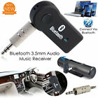 Wireless Bluetooth Receiver 3.5mm AUX Audio Stereo Music Home Car Adapter TO