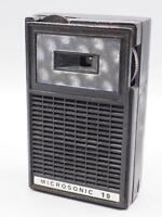 Vintage Microsonic Deluxe AM Transistor Radio w/ Box & Lenticular Face