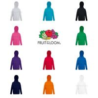 Fruit of the Loom Boys Girls Lightweight Hoodie Hooded Sweatshirt