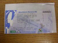 04/12/2002 Ticket: Blackburn Rovers v Rotherham United [Football League Cup] Dir