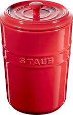 Staub Keramik 2er Set Vorratsdose Frischhaltedose Aufbewahrungsbehälter Kirschro