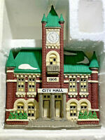 "DEPARTMENT 56 HERITAGE VILLAGE House ""CITY HALL"" Christmas in the City Series"