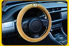 1Pcs Fashion Cartoon Rilakkuma Bear Face Plush Car Steering Wheel Cover 02